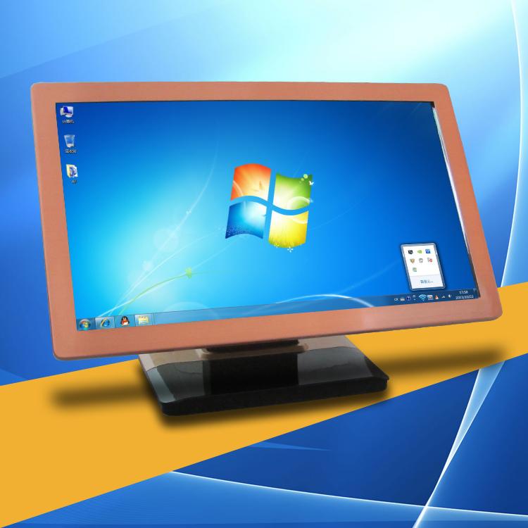 厂家直销超薄玫瑰金款红外触摸屏|触摸屏显示器|电脑USB接口触控一体机显示器