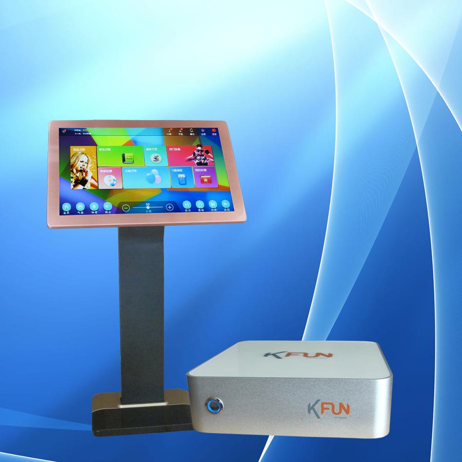 阳光KFUN机顶盒,KTV家用点歌机高清视瀚KFUN土豪金版wifi点歌机套装